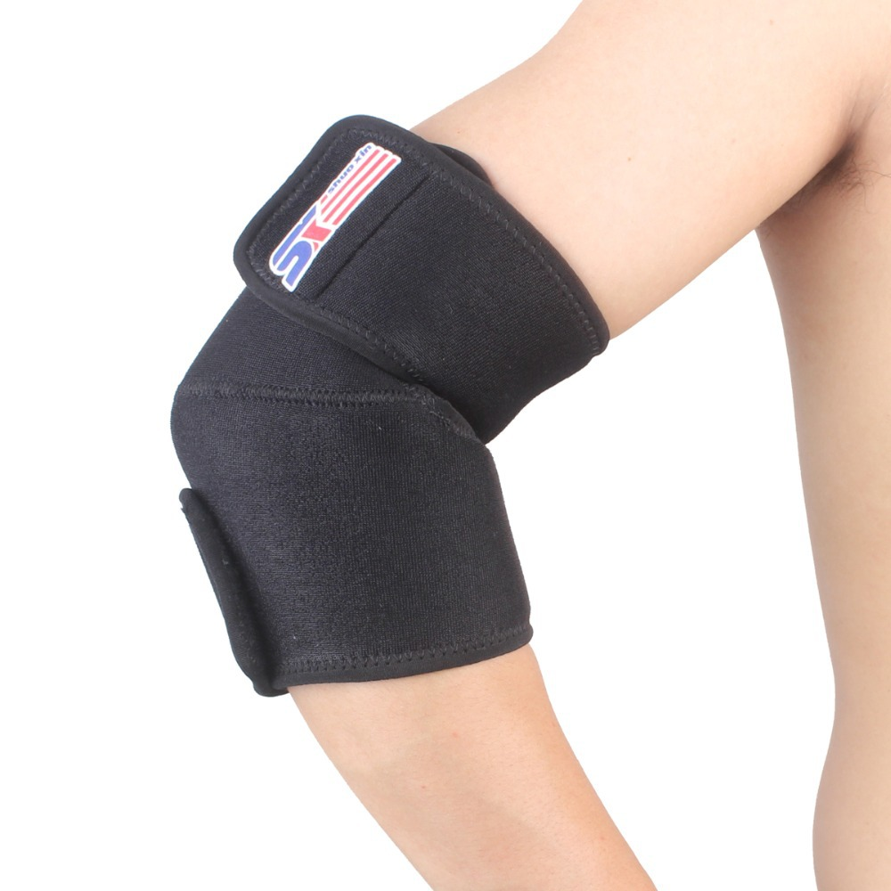 Free Shipping ShuoXin SX506 Sports Golf Elbow Pad Brace Support Wrap Adjustable- Black - 1 PCS