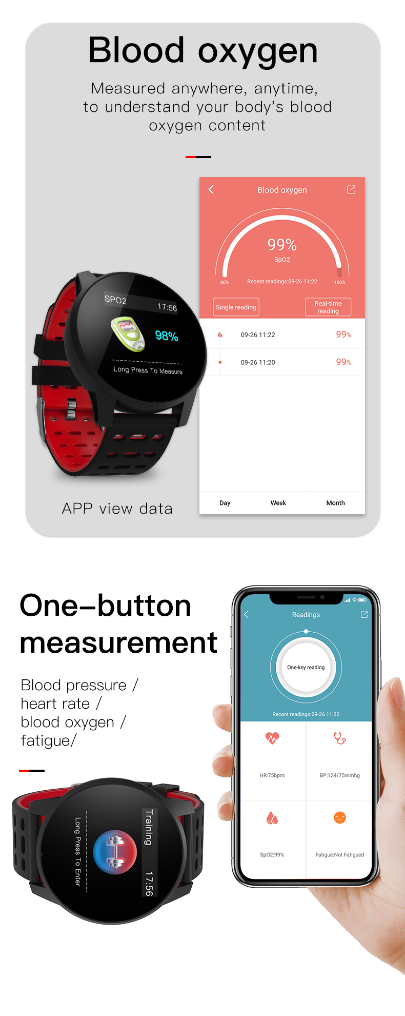 LEMFO W1 Sport Smart Watch IP67 Waterproof Heart Rate Monitor Strap Replaceable Smartwatch Men For Android IOS Phone Pedometer 8