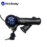 Scooter Throttle Elektrische Deurslot Accessoires 24 V/36 V/48 V/60 V Met Lcd scherm code Meter Power Display Throttle Speed G-in Elektrische Fiets accessoires van sport & Entertainment op