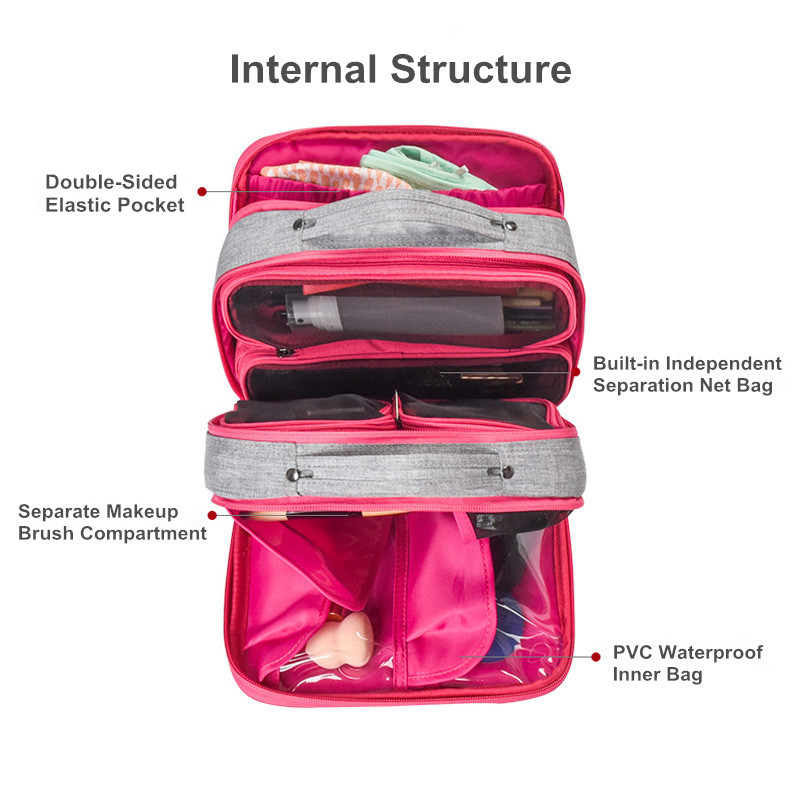 Image 5 - Pullable Multifunction Storage Bag Simple Large Capacity Separable Travel Cosmetic Storage Bag Wardrobe Underwear Organizer-in Storage Bags from Home & Garden