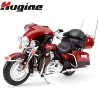 Alloy Motorcycle Model King Of The Road Locomotive Model Harley Gliding Breaker Simulated Alloy Motorcycle Children Hobby Toys