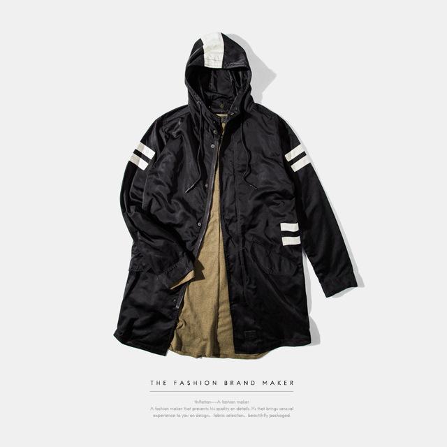 Marca de vestir | en 2016 otoño desgaste largo empalme en los hombres jecket hombre gabardina