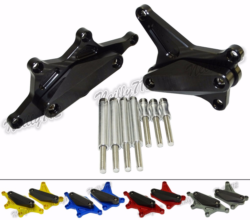 waase Left & Right Engine Crash Pads Frame Sliders Protector For HONDA CB500 CB500F <font><b>CB500X</b></font> <font><b>2013</b></font> 2014 2015-2017 PC45 PC46 image