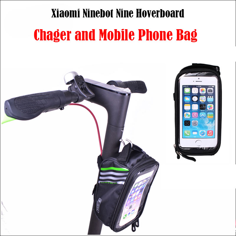 charger and mobile phone bag for Xiaomi Skateboard Scooter M365 for Xiaomi scooter accessaries small bag Xiaomi scooter diy mobile phone