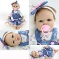 "55cm 22"" inch babies reborn doll cute Silicone lifelike baby doll  for baby girl birthday gift"