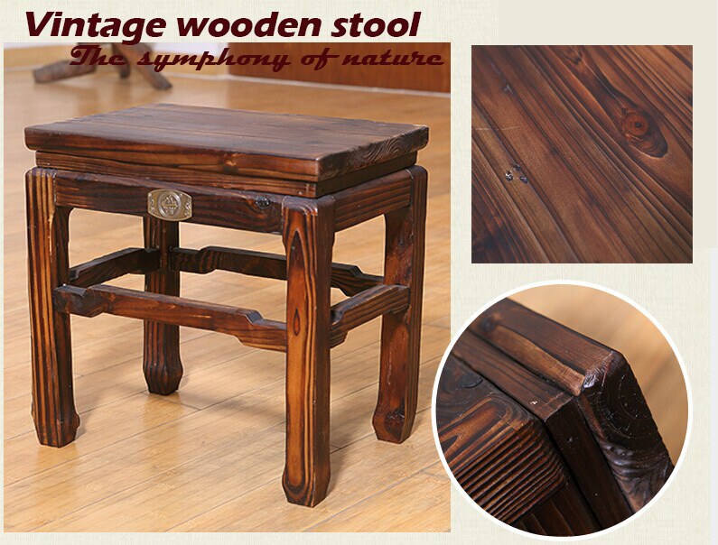 % Wooden stoolwood furnituregarden style stoolbathroom stool