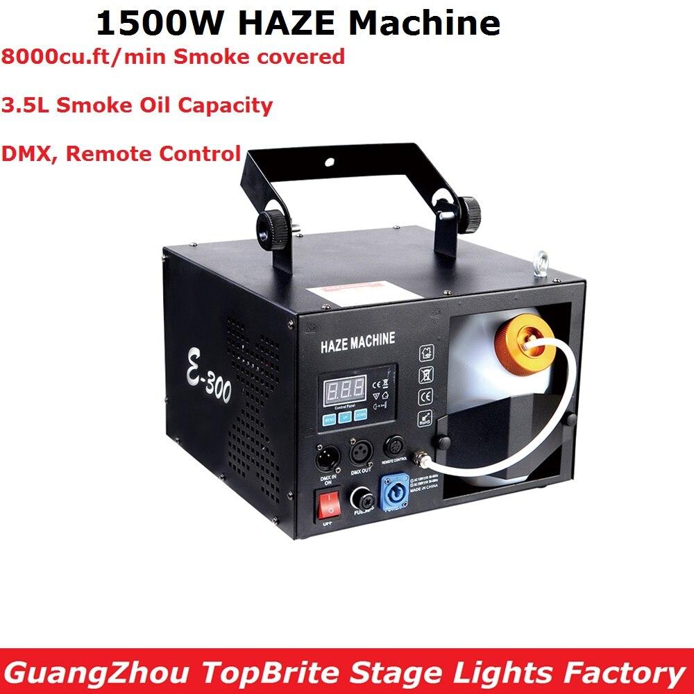 1500W Mist Haze Machine DMX/Remote Control Fog Machine Pump Dj Disco Smoke Machine 110 240V Professional Lighting Show Equipment