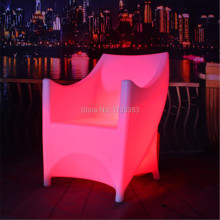 16 Colors chaning rechargeable battery plastic illuminated led bar armchair remote control luminous armrest glowing backrest