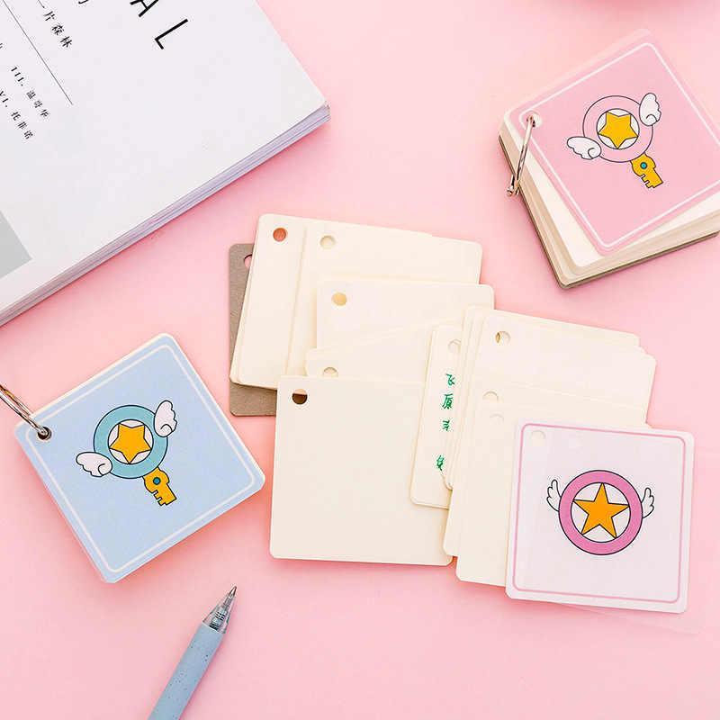 16 estilos espiral libro Hierro anillo espiral cuaderno Kawaii forrado en blanco cuadrícula papel diario planificador para suministros escolares papelería regalo