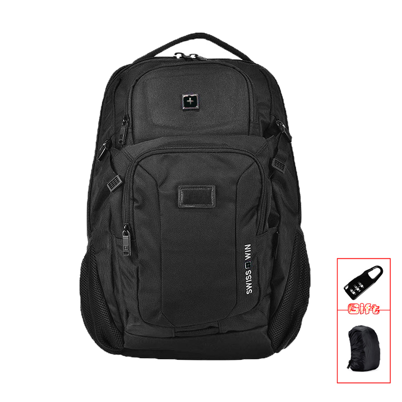 Men's Backpacks Black Nylon Orthopedic Computer Bag For Students with AirFlow Back Youth mochilas masculino Zaini SW9101