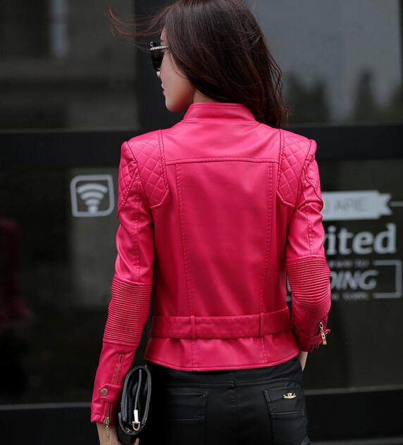 rose Red Slim Rm Noir Zipper Rouge Moto Nouveau Danse Femmes Ailes Manteau Vêtements Red Pu Court Veste wine En 25 Style Cuir Tempérament SqqIHBw