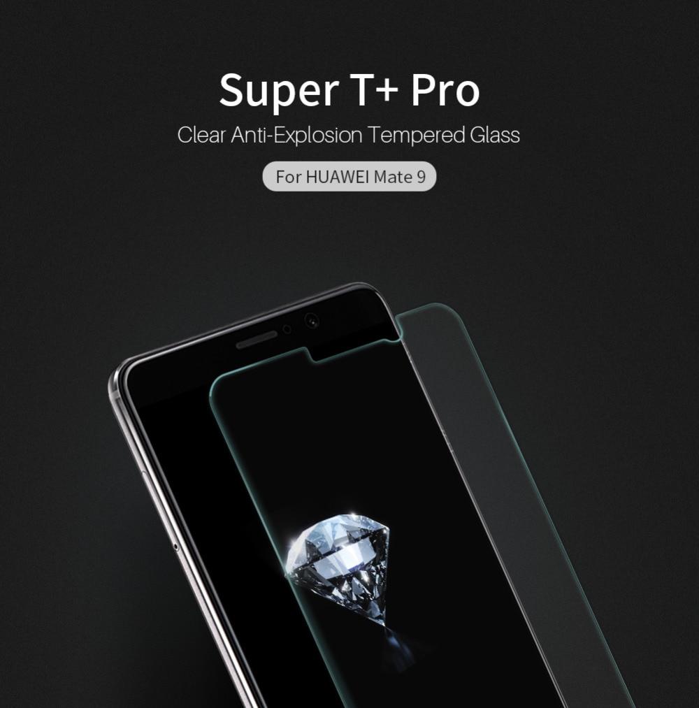 imágenes para Mate 9 vidrio templado protector de pantalla de nillkin increíble t + pro vidrio templado de vidrio templado para el huawei mate 9 (5.9 pulgadas)
