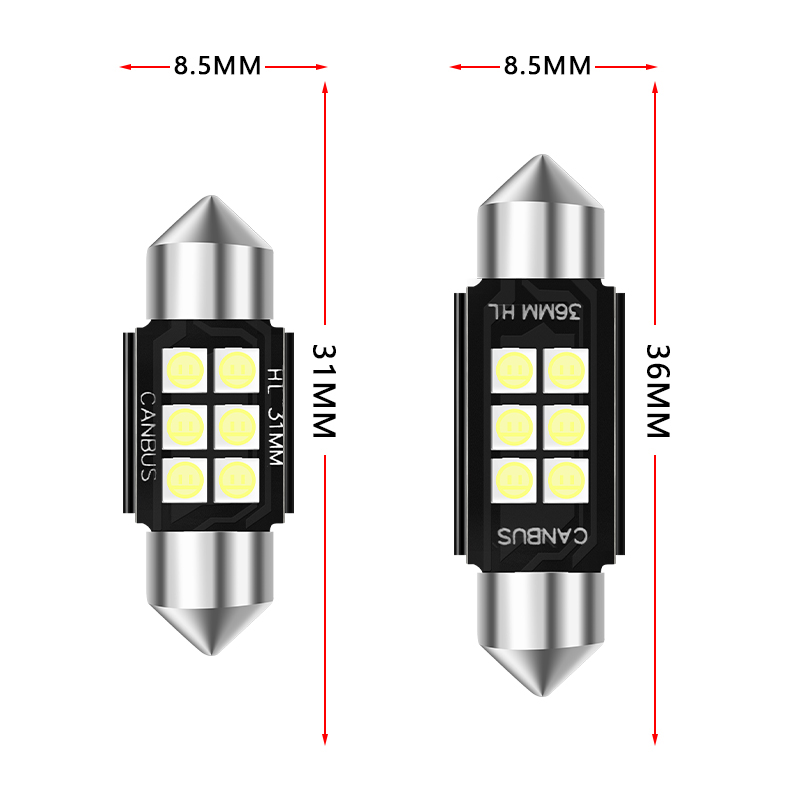 Festoon 31mm 36mm 39mm 41mm C5W C10W Super Bright CREE Chips LED Car Lights Canbus Error Free Interior Doom Lamps Reading Bulbs in Signal Lamp from Automobiles Motorcycles