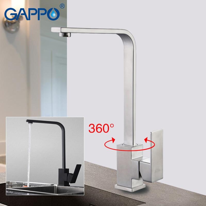GAPPO Kitchen Faucets Deck Mounted Faucet Mixer Stainless Steel Faucet Mixer Taps For Kitchen Sink Mixer De Cozinha Tap