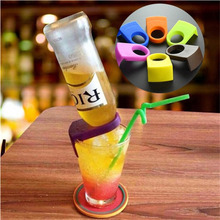 6Pcs/Set Eco-friendly ABS Bottle Buckles Candy Color Drink Beer Bottles Holders Buckle For Bar Club Bottle Mouth Clips Pub Tools
