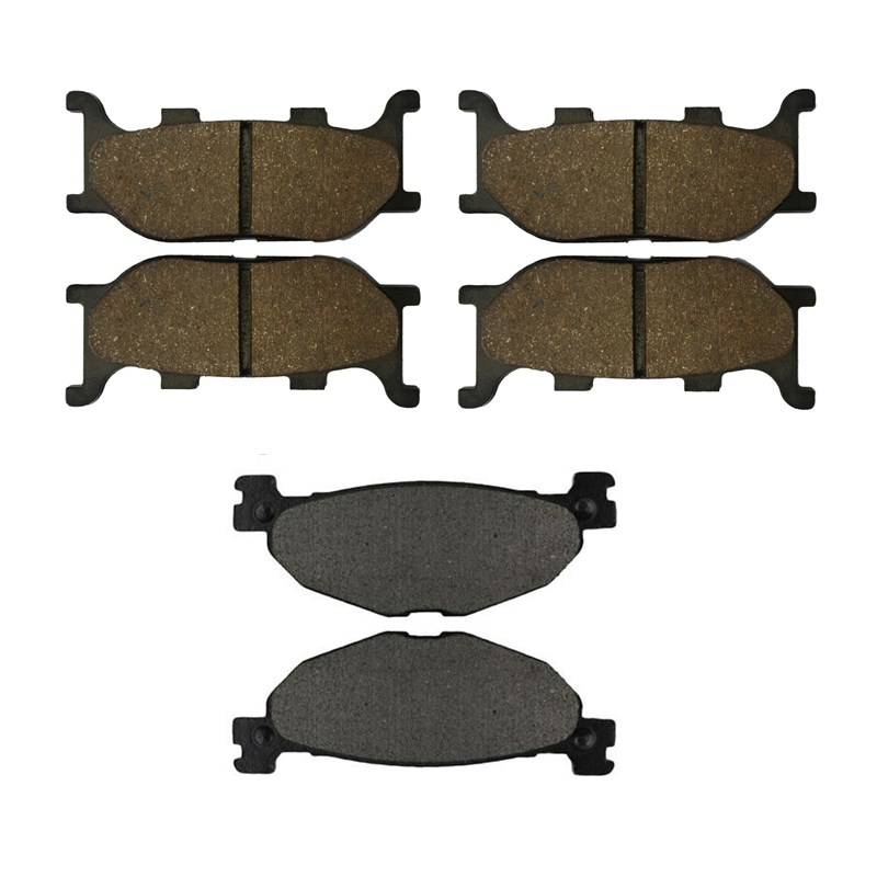 Motorcycle Front and Rear Brake Pads for YAMAHA XVS 1300 XVS1300 AW / AX V-Star 2007-2009 Black Brake Disc Pad motorcycle front and rear brake pads for yamaha xvs 1300 xvs1300 aw ax v star 2007 2009 black brake disc pad