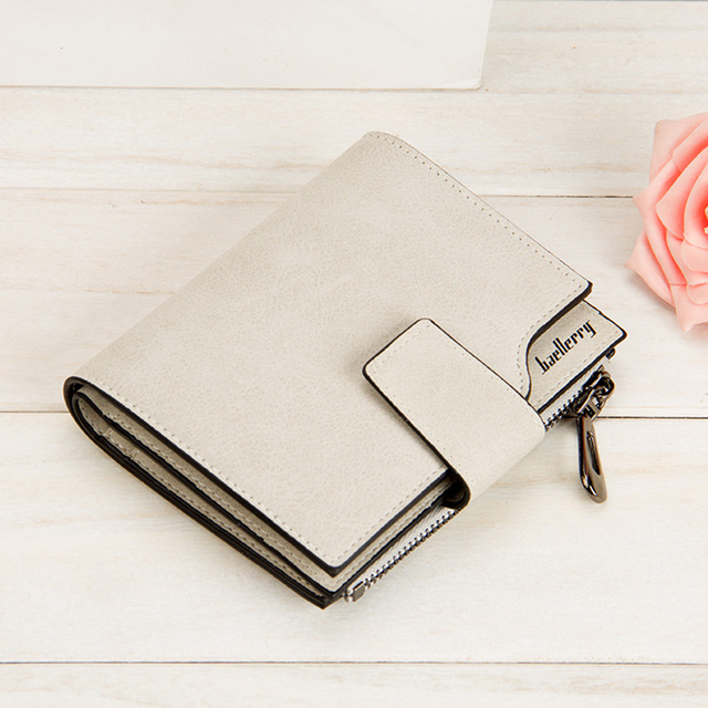 Fashion Convenient Compact Square Leather Wallet