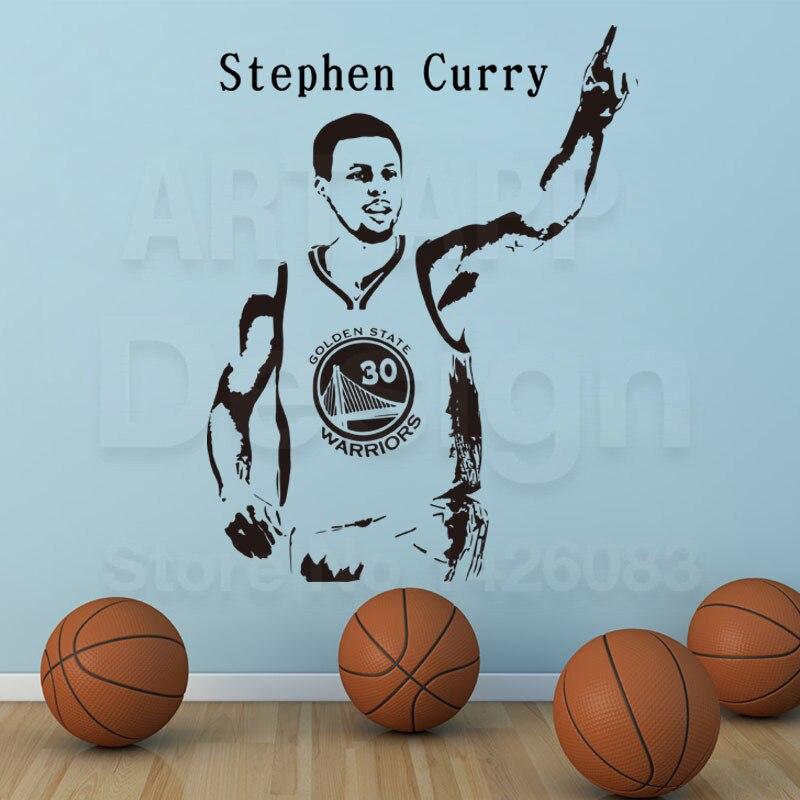 Arte nuevo diseño de Curry barato decoración baloncesto etiqueta de la pared rem