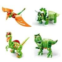 Dinosaur Skeleton Building Blocks Skull 3D Model Funny Kids Educational Toy Gift M15