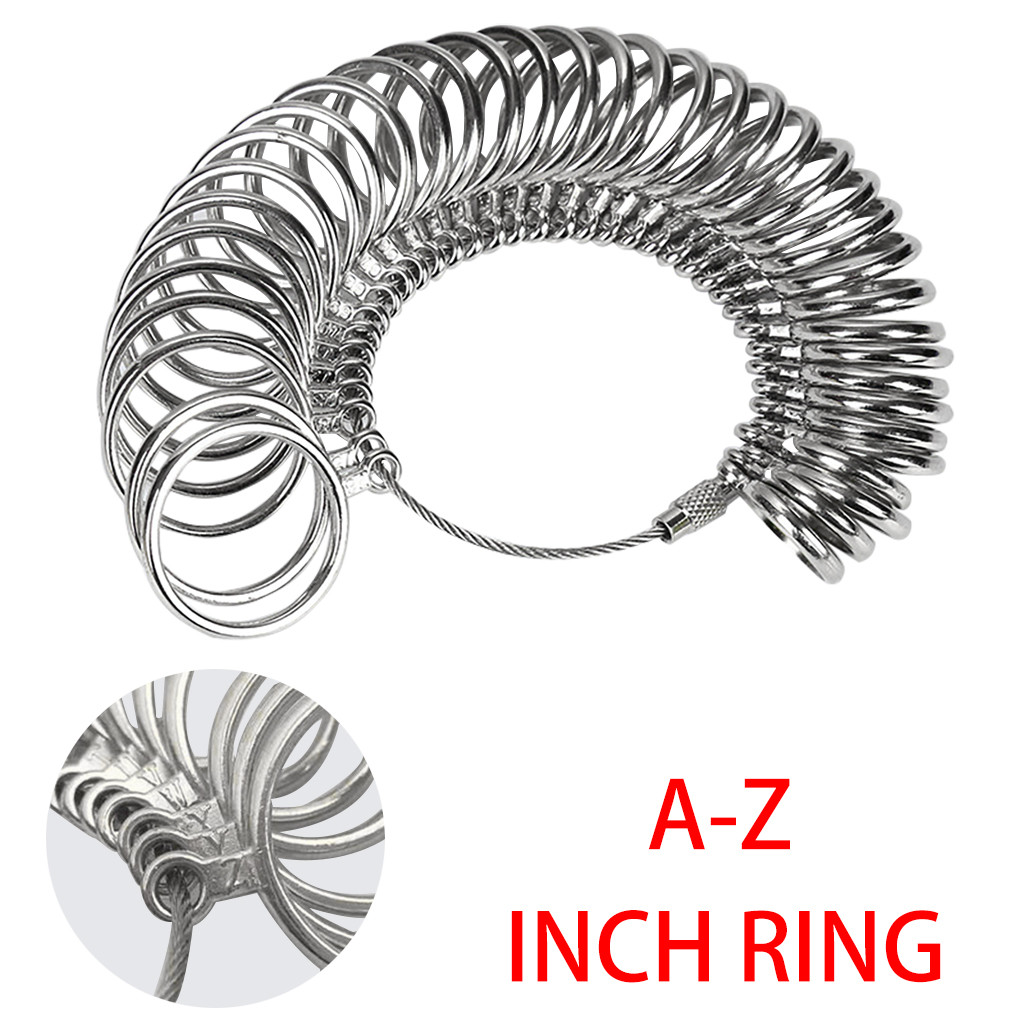 Jewelry Sizers Rings Custom Standard Hand Rings Accessories Ring Gauge Tool Ring Stainless Ring on Finger Measuring Ring Tool