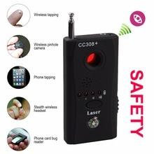 Leshp CC308 + полный спектр Беспроводной Камера GPS Анти-шпион Ошибка Обнаружения радиочастотного сигнала детектор GSM устройства Finder ЕС США Plug встроенный Батарея