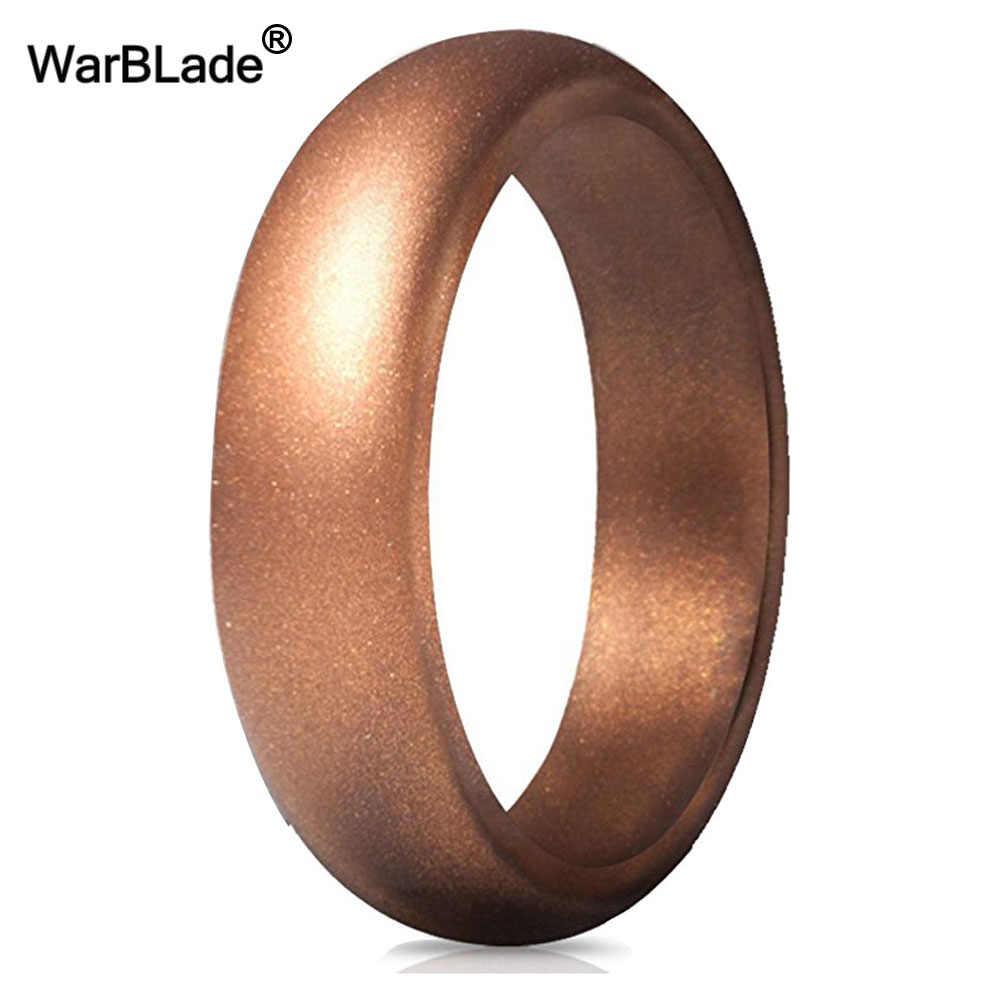5.7mm Hypoallergenic Crossfit Fleksibel Karet Cincin 4-10 Ukuran Food Grade FDA Silicone Finger Cincin Untuk Pria Wanita pernikahan Perhiasan