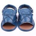 Nuevo Comercio Exterior de Los Bebés Infantiles Del Niño de LA PU Hebilla de Cuero Suela Blanda Primeros Caminante Prewalkers Zapatos