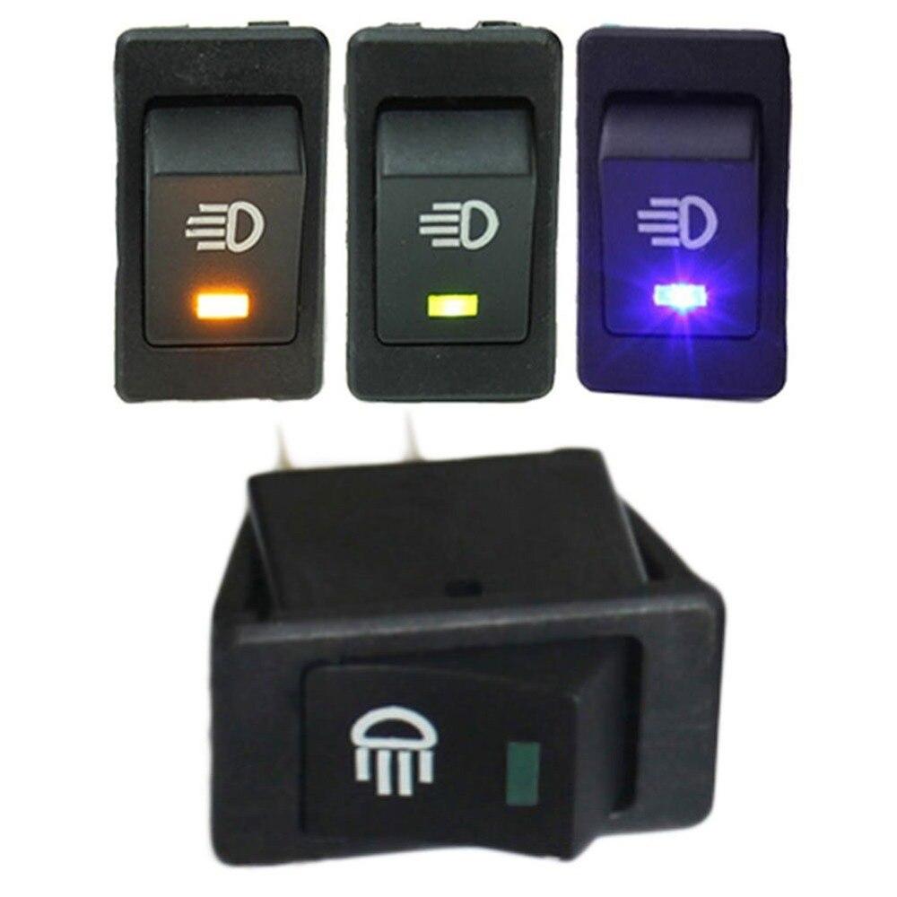Mintice/™ 12V Car Vehicle Blue LED Light Fog Light Button Rocker Toggle Switch On Off 4Pin