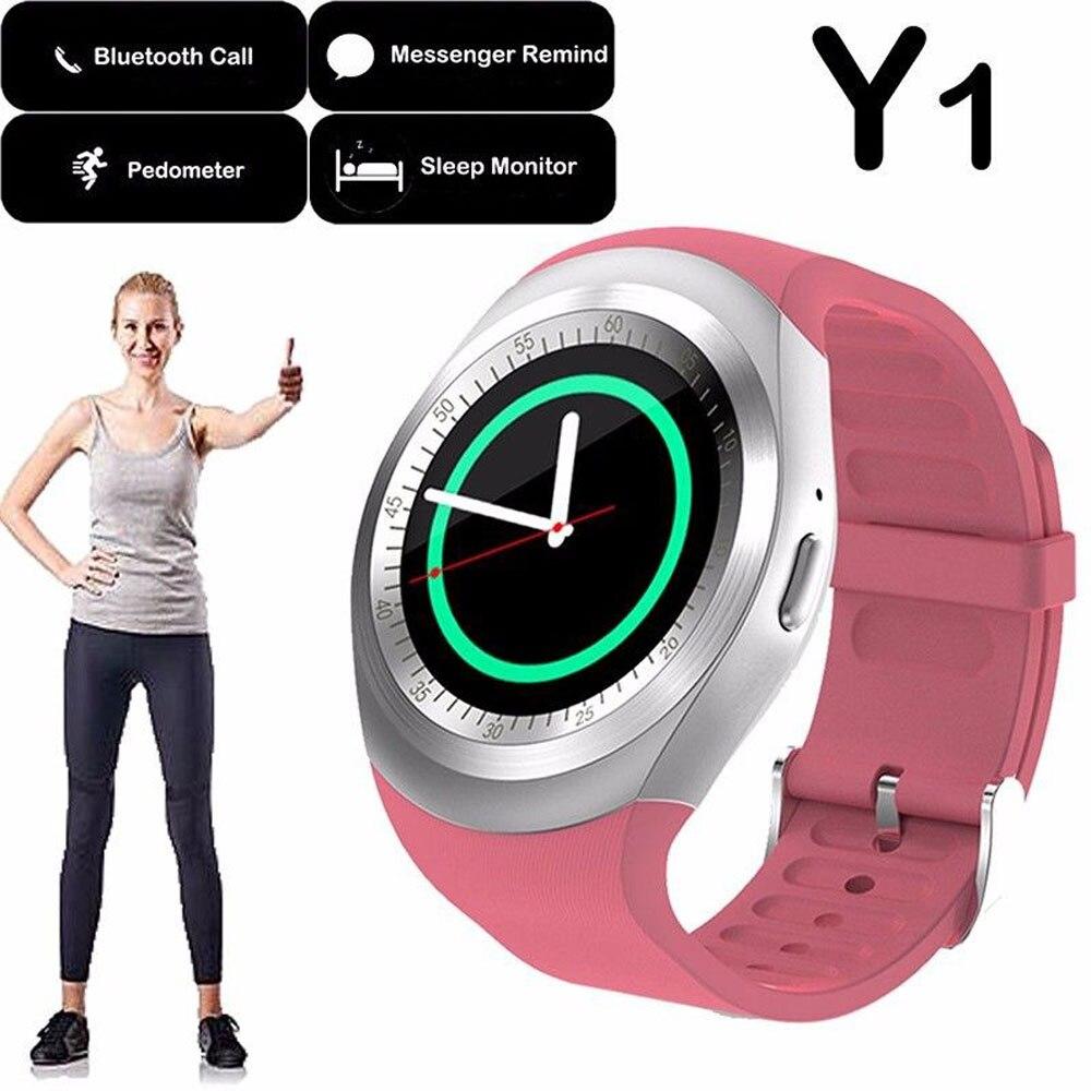 Y1 Smart Uhr Aktivität Tracker Alarm Uhr Smart Armband Bluetooth Zifferblatt Call Nachricht Erinnerung Smart Uhr Unterstützung TF Karte