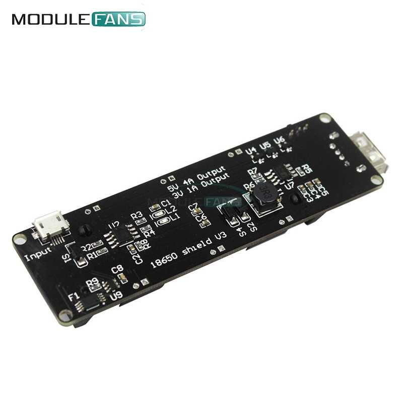 ESP32 ESP32S For Wemos For Raspberry Pi 18650 Battery Shield V3 Micro USB Port Type-A USB 0.5A For Arduino Diy Kit With Cable