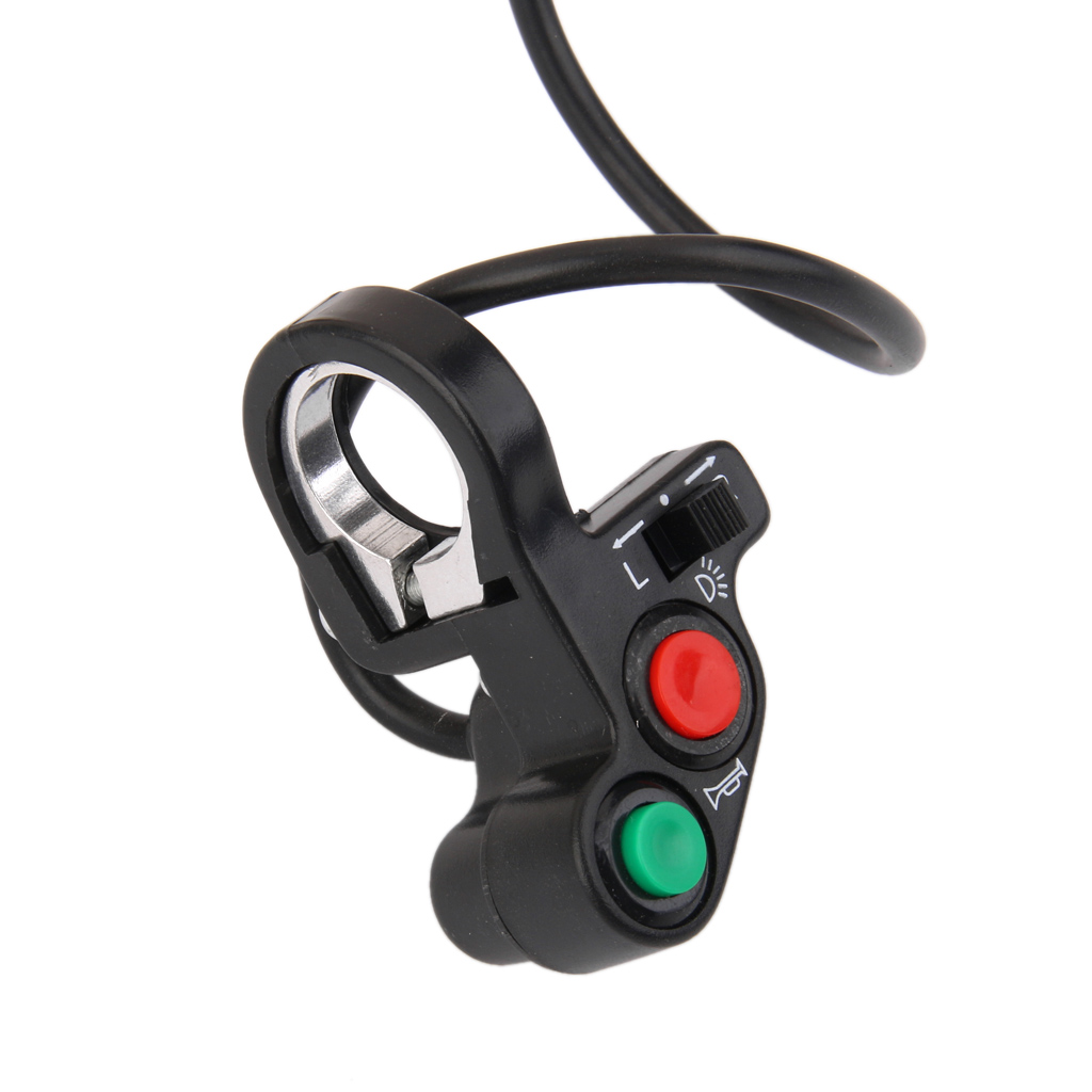 1 Pcs Universal Motorcycle Horn Light Turn Signals On/Off Switch12V 7 Pins For 7/8 Handlebars ATV Motorbike Scooter Etc