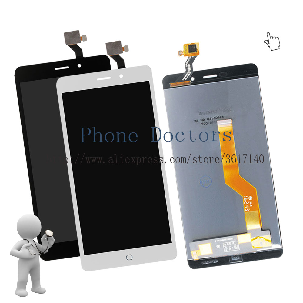 5.5'' Touch Screen Digitizer Glass + LCD Display Assembly For Elephone P9000 LTE ; New ; Black / White ; 100% Tested ; Tracking