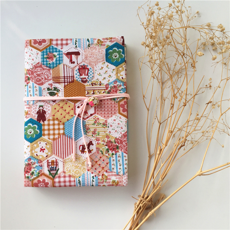 Handmade Scrapbook Cover : Patchwork style handmade japan vintage creative cloth