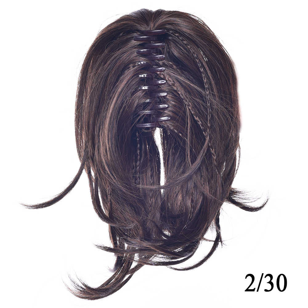 Soowee krótkie kręcone włosy włosy syntetyczne blond czarny włosy clip in rozszerzenia kucyk Little Pony ogon brązowy pazur Ponytails