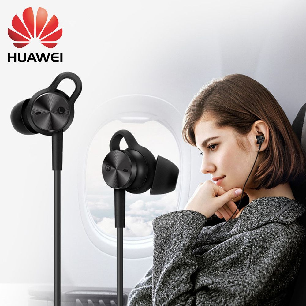 2018 Original HUAWEI Active Noise Canceling Earphones 3 Hi-Res Quality Music Type-C Charge-Free Mic Anti-Wind Design earphone 3 original huawei am180 in ear 3 5mm active noise cancellation earphones