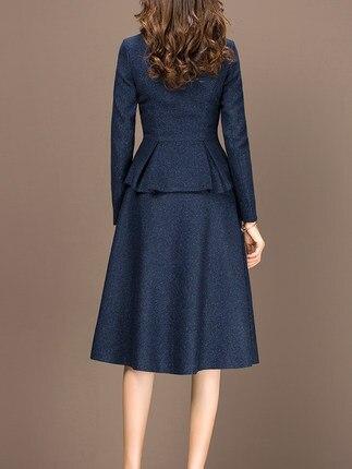 2 piece outfits for women 2020 Fashion Autumn Winter Two Piece Set ELegant Office Lady Suit Plus Size 3XL casaco feminino LX439 - 2
