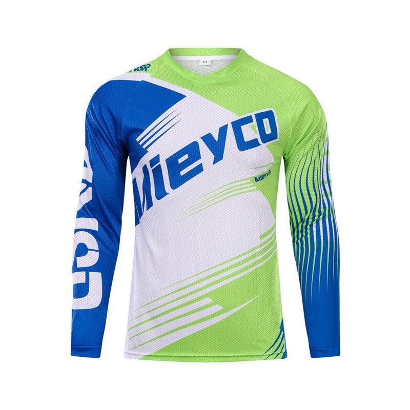 Spor ve Eğlence'ten Bisiklet Formaları'de Erkek uzun kollu dağ bisikleti T Shirt mtb jersey spor forması gömlek motosiklet motokros forması MX DH MTB BMX Downhill jersey title=