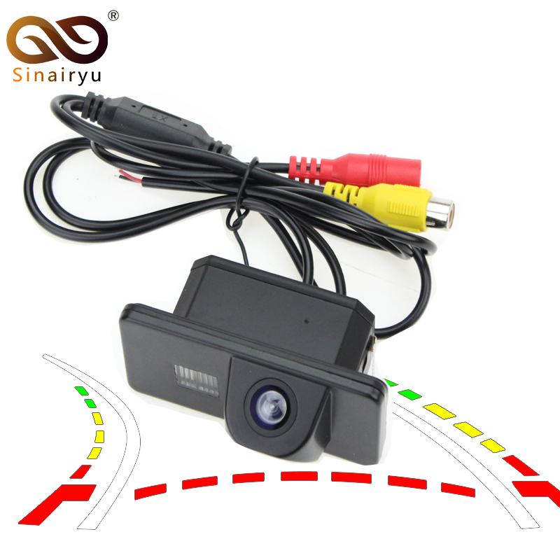 Car Dynamic Trajectory Reverse Backup Rear View Camera For BMW 3/5/7 Series E39 E46 E53 X3 X5 X6 Vehicle Parking Tracks Camera