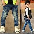 2017 весна лето мода дети дети джинсовые мальчиков дизайнер случайные джинсы брюки брюки розничная бесплатная доставка