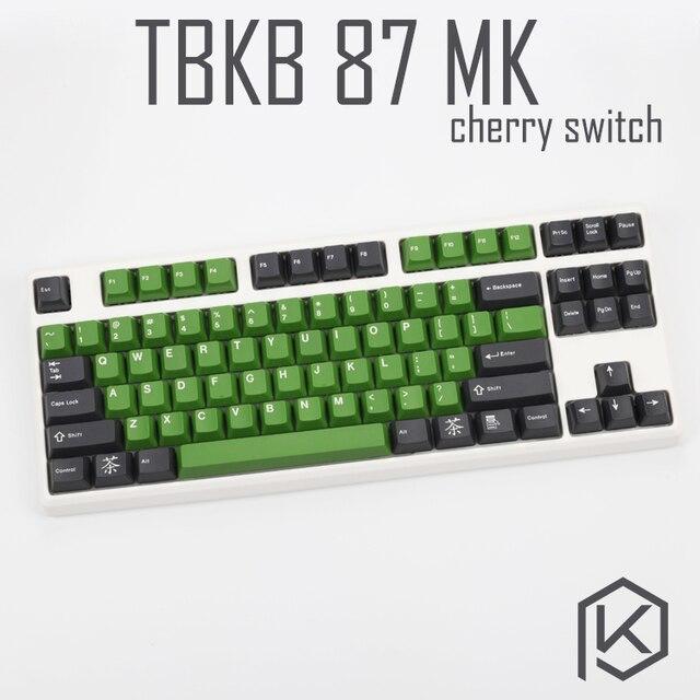 Tbkb Mechanische Tastatur 87 schlüssel arten von led effekte PCB 80% Gaming Keyboard Led-hintergrundbeleuchtung kirsche schalter blau rot braun schwarz