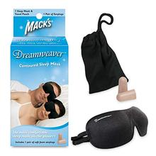 Eye Mask with Mack's Ultra Soft Foam Earplugs Mack's Dreamweaver Contoured Sleep Mask-Comfortable, Adjustable, Dual Strap