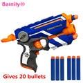 [Bainily] nerf elite caliente fuego huelga de rayos infrarrojos suave balas nerf Manual Niños Pistola Desert Eagle Pistola Blaster Pistola de juguete Barato juguete