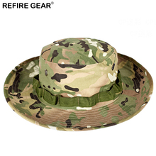 Summer Outdoor Camouflage Bucket Hat Men Camo Wide-brim Fishing Boonie Hiking Breathable Camping Hunting Airsoft Cap