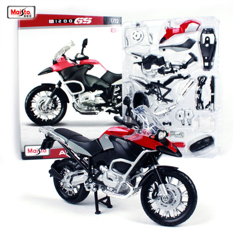 New Maisto 1:12 R1200 GS Assembly DIY MOTORCYCLE BIKE Model KIT For Kids Birthday Gifts Toys Free Shipping(China)