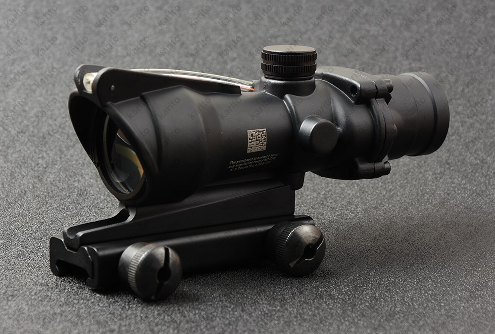 Tactical trijicon acog style 4x32 Rifles Scope with 20mm Picatinny Weaver Rail Mount Base M5858 цена