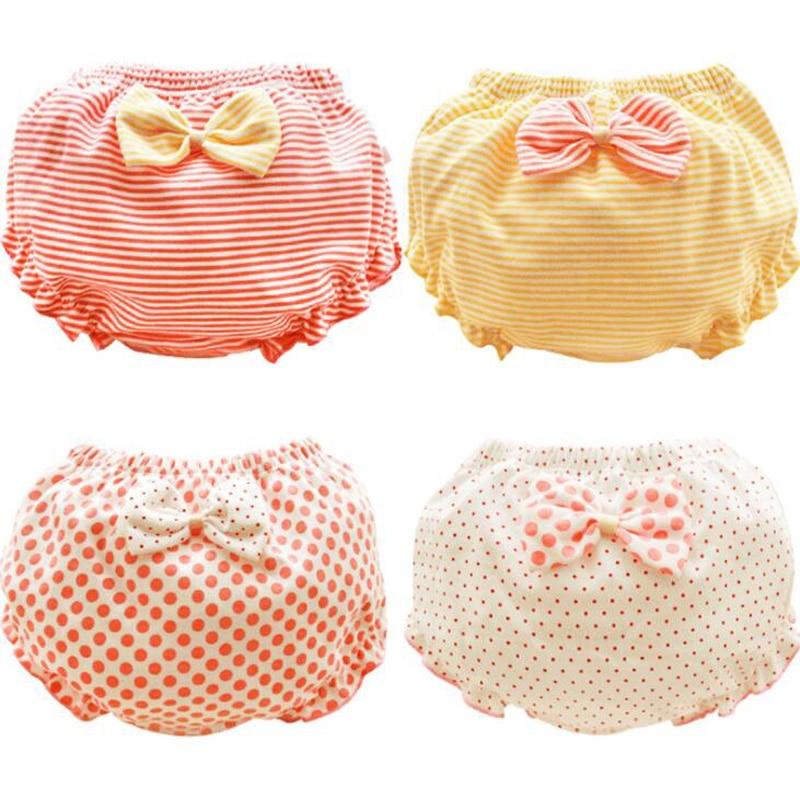 New Bow Thin Children's Briefs 0-7 Years Old Cotton Girl Baby Children's Underwear Briefs