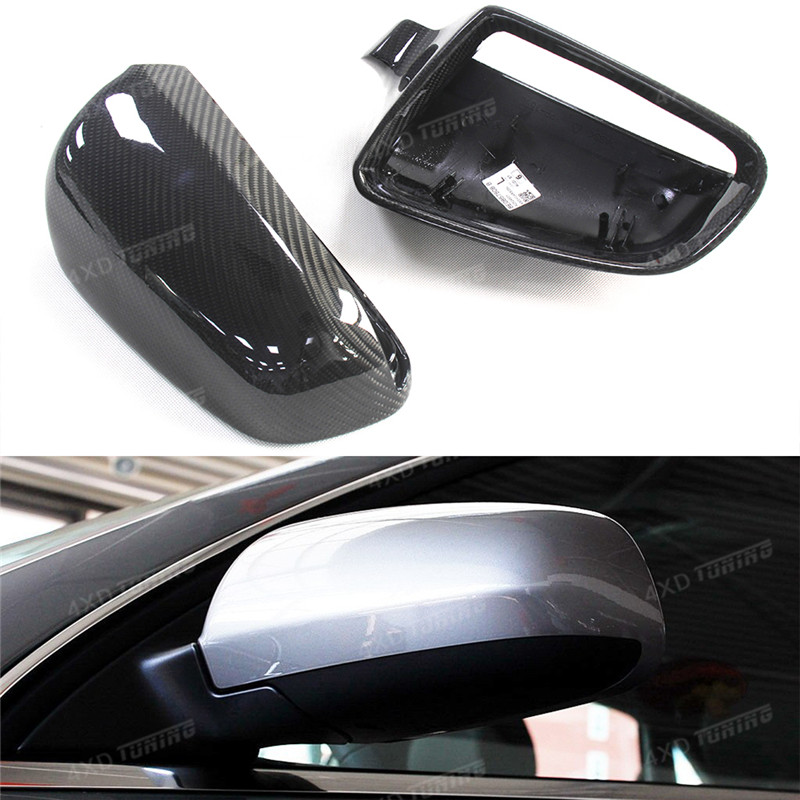 For Audi A3 A4 B7 S6 Carbon Mirror Cover 1:1 Replacement Style S6 Carbon Fiber Rear side View Mirror Cover 2004 2006 2007 2008