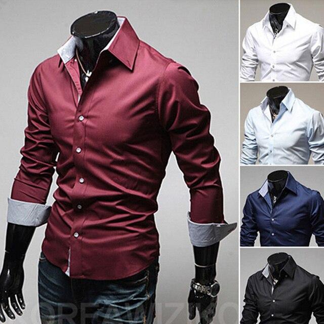 e254ad855 2015 casual men shirts long sleeve camisa masculina camisetas social roupas  blusas slim fit casual-