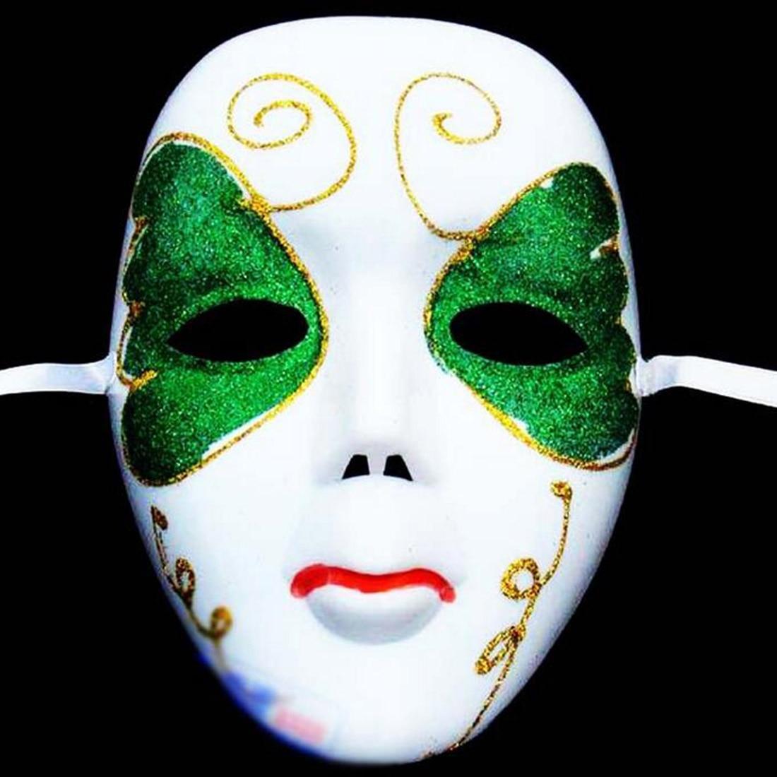 Diy Scary White Face Mask Halloween Masquerade Ball Party