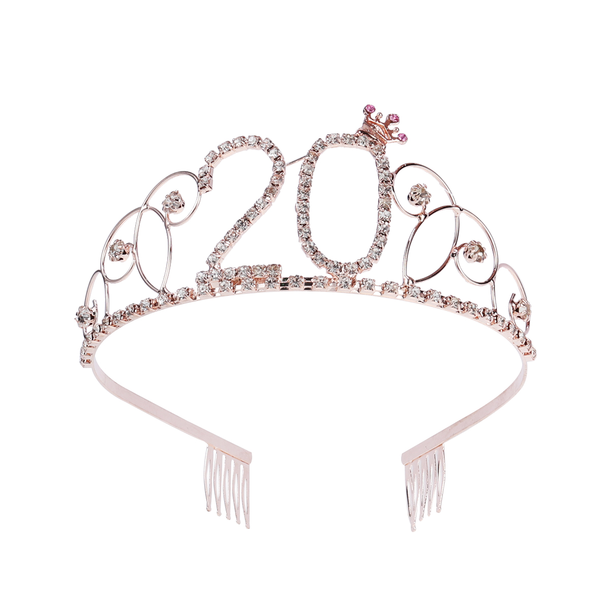 30th Birthday Party Diamante silver with Crystal Tiara